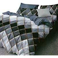 Essina Microfiber Double Bed Quilt Cover Duvet Cover Doona Cover Set 3pc Arcadia Collection, Soft and Lightweight…