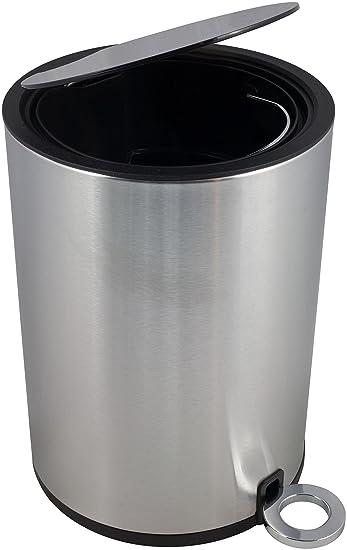 Chrom 12 Liter Poppis M/ülleimer 3l und 12l mit Softclose-System Badeimer mit Absenkautomatik Kosmetikeimer