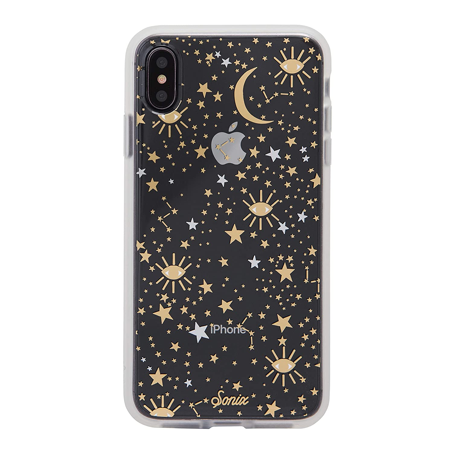 the latest fdf3e 57ed0 Sonix Cosmic (Gold, Silver Stars) [Military Drop Test Certified] Protective  Clear Case Series for Apple iPhone Xs Max