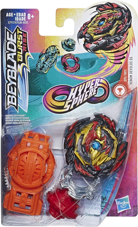 Beylade Burst Rise Hypersphere Venom Devolos D5 Starter Pack ...