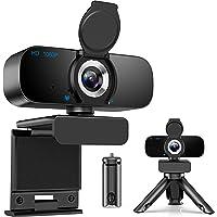 [Latest 2021] Webcam HD 1080p Web Camera, USB PC Computer Webcam with Microphone, Laptop Desktop Full HD Camera Video…