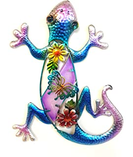 Bejeweled Display® Purple Gecko W/ Glass Wall Art Plaque U0026 Home Decor