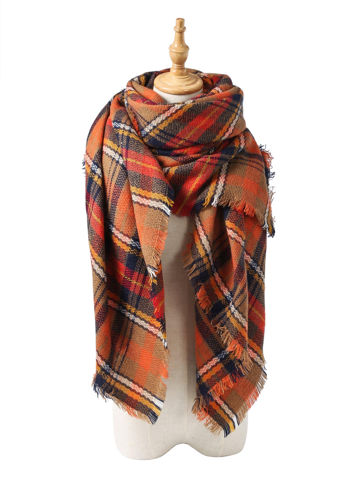Spring Fever Stylish Warm Blanket Scarf Gorgeous Wrap Shawl I Orange