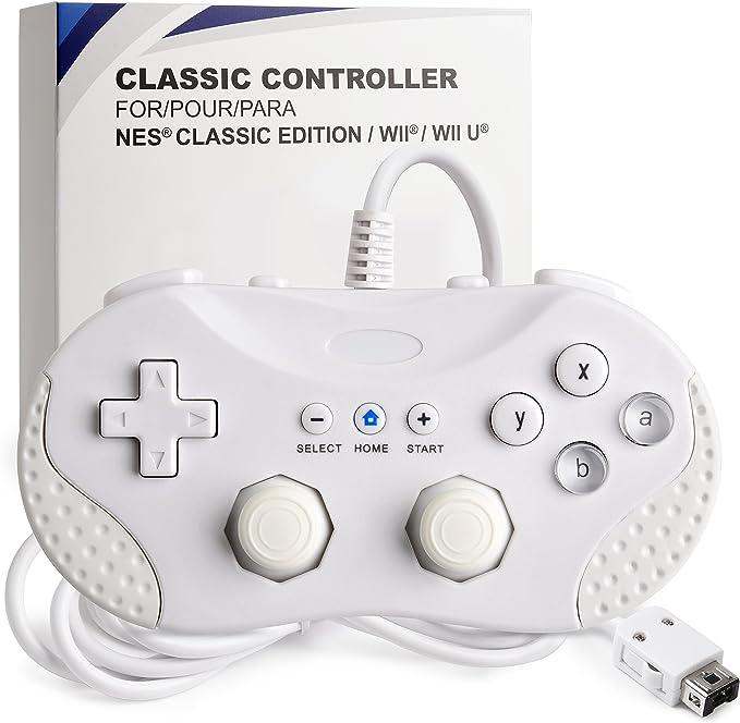 iNNEXT Classic - Mando para Nintendo Wii/Wii U/NES Classic Edition (NES Mini), Consola clásica Gamepad Gaming Pad Joypad para Nintendo Wii Wii U (Blanco): Amazon.es: Electrónica