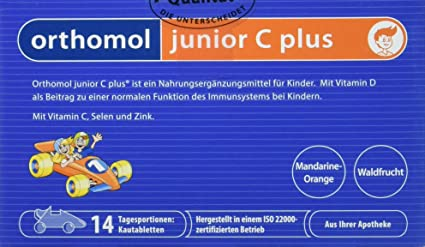 Orthomol Junior C Plus comprimidos masticables, 14 ST