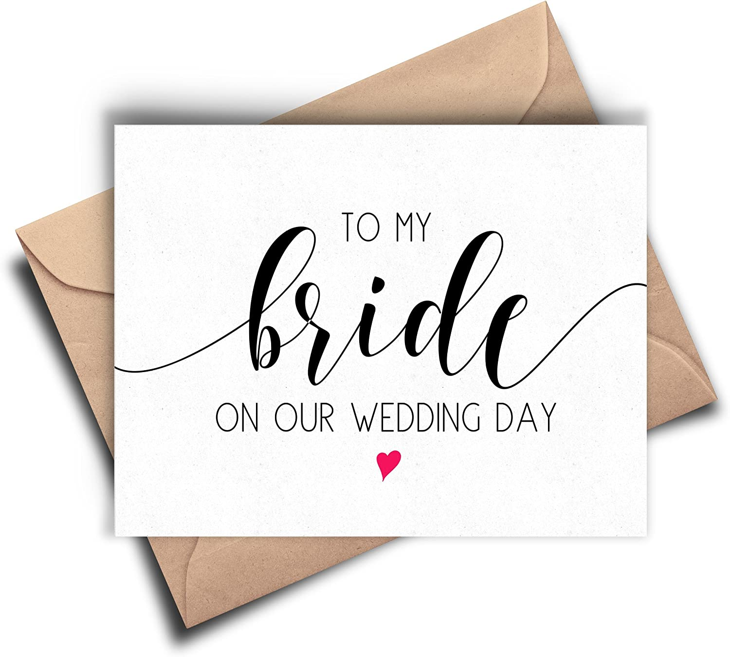 Bride Card, To My Bride On Our Wedding Day, Bride Cards from Groom