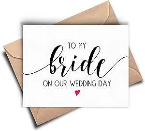 Tarjeta de novia, a mi novia el día de nuestra boda
