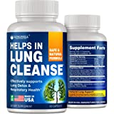 Quit Smoking Aid - Lung Cleanse & Detox Pills - Made in USA - Helps to Clear Lungs & Stop Smoking - Infused with Mullein & L-