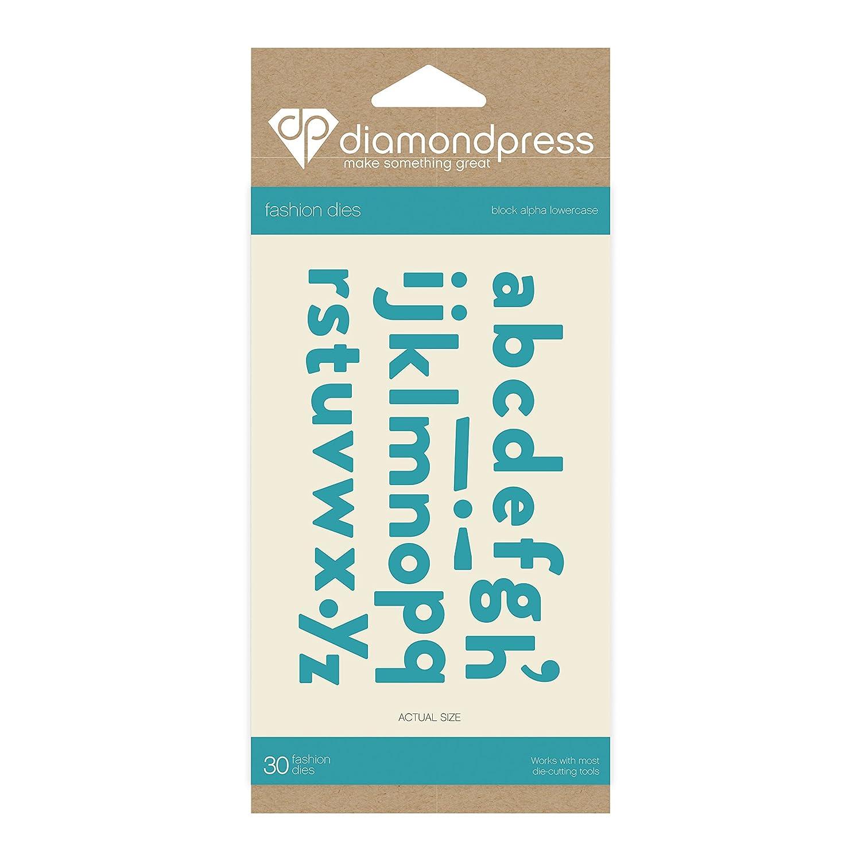 Diamante PressBlock Alpha minuscola fashion Dies, argento Crafter' s Companion DP1250