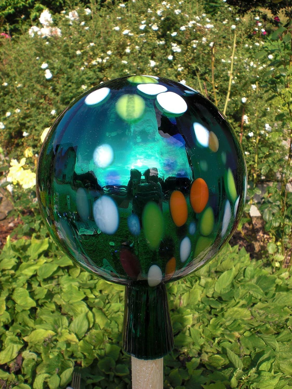Gartenkugel aus Glas 12 //15 cm Ø Weiß Rosenkugel