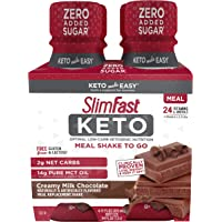 SlimFast Keto Chocolate Shake - Ready to Drink Meal Replacement, (Each 4 Count of 11 Fl Oz Bottles) 44 Fl Oz