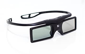 3D Active Shutter DLP 3D Brille für DLP-Link Projektor Beamer TV (Batteriebetrieb) in schwarz / Marke PRECORN