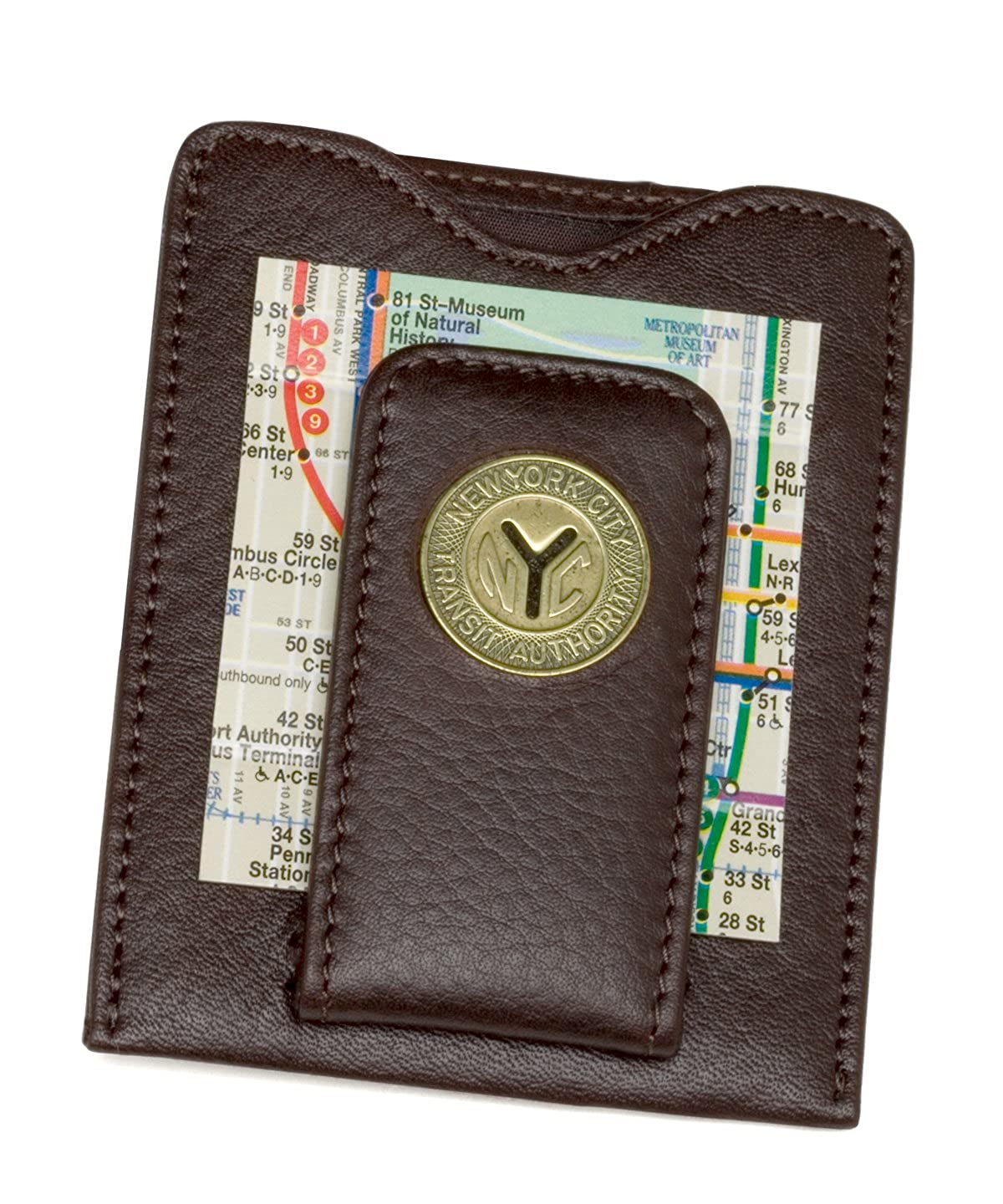 Tokens & Icons NY Transit Token Money Clip Wallet (80N-P) 80N-BLK