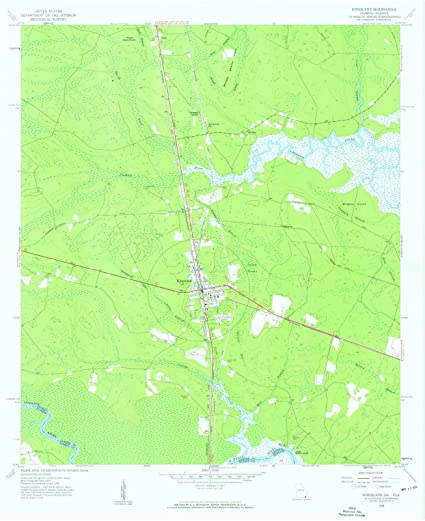 Map Of Kingsland Georgia.Amazon Com Georgia Maps 1958 Kingsland Ga Usgs Historical