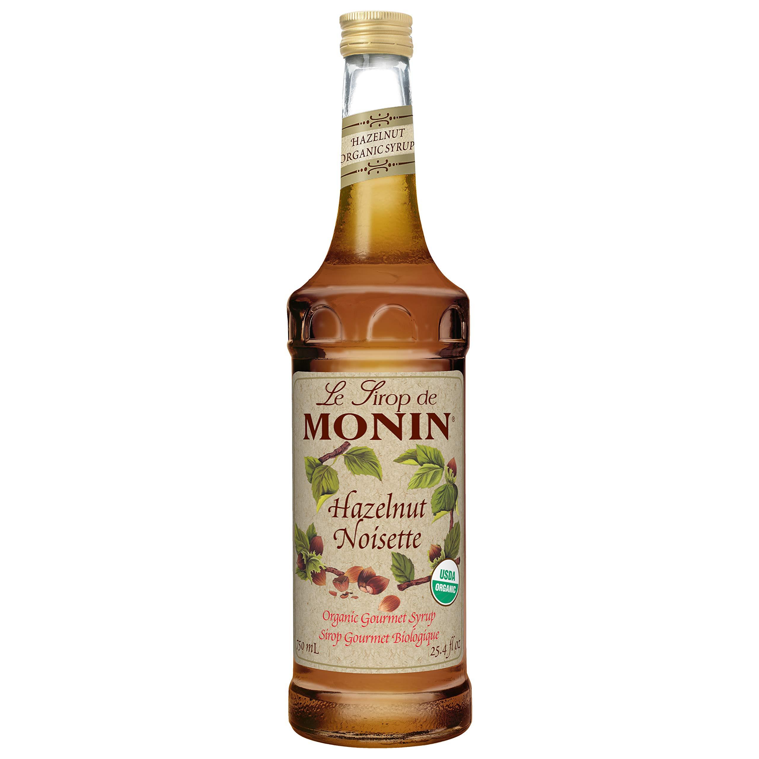 Monin Organic Hazelnut Flavor Syrup, 750 Milliliter - 6 per case.