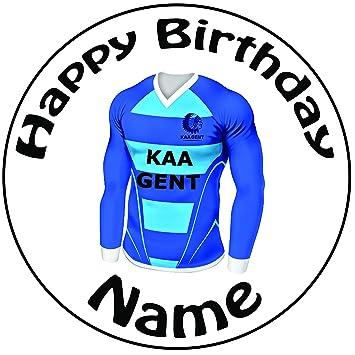"""Personalizado k.a.a Gent camiseta de fútbol decoración para tarta para – una precortado redondo 8 """""""