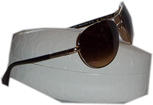 eef97d9082 Image Unavailable. Image not available for. Color  Authentic Coach Allegra  Sand Aviator Sunglasses ...