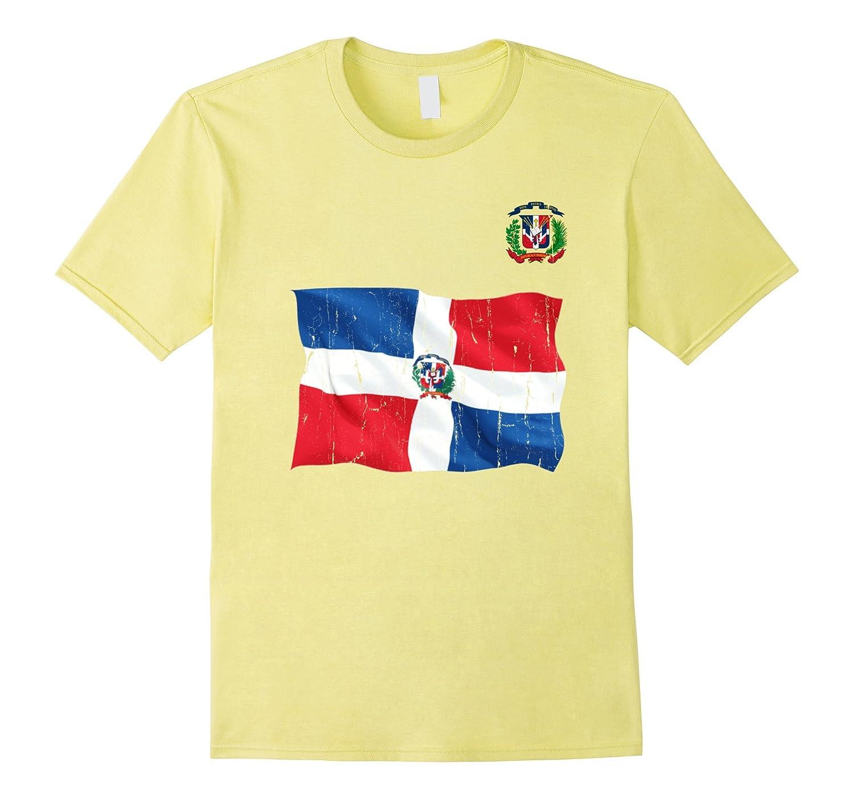 6339294e Dominican Republic flag grunge gifts T-Shirt-ANZ ⋆ Anztshirt