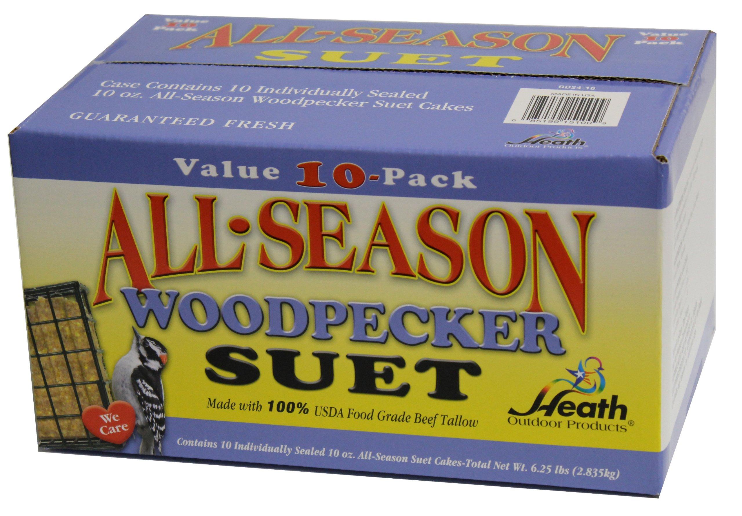 Heath Outdoor Products DD24-10 Woodpecker Suet Cake, 10 Pack