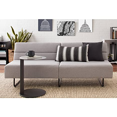 Amazon.com: Gray Modern Futon Sofa, 3 Positions Click-Clack ...