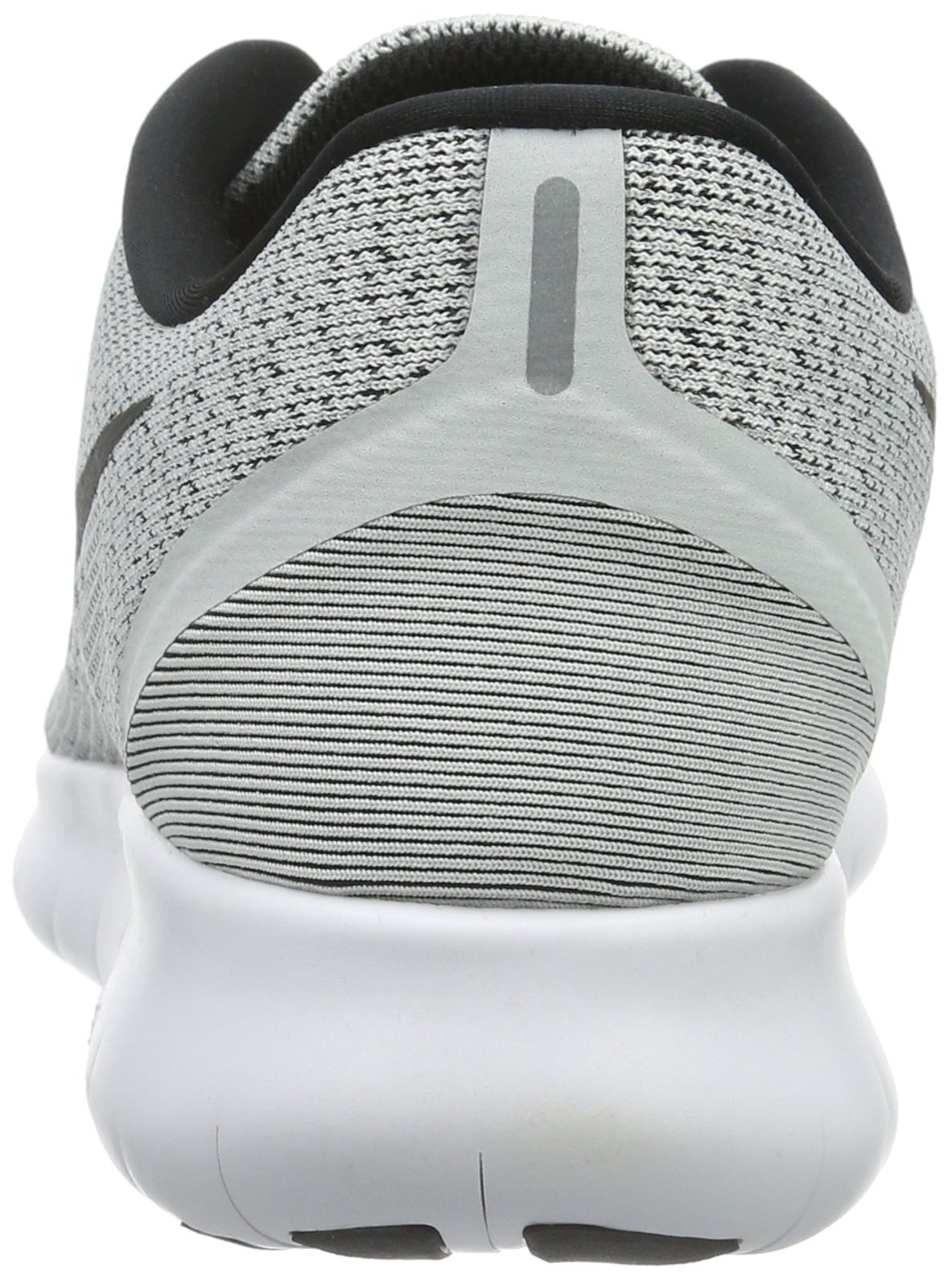 Nike Womens Free Rn Low Top Lace Up Running Sneaker, White, Size 5.5 by Nike (Image #2)