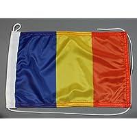 Buddel-Bini Bootsflagge Rumänien 20 x 30 cm in Profiqualität Flagge Motorradflagge