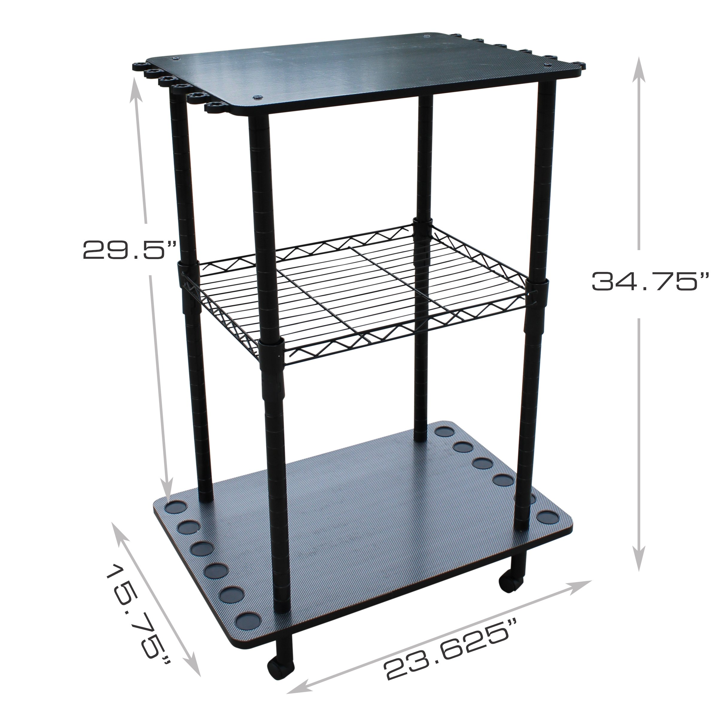 Rush Creek Creations 12 Fishing Rod Storage Tackle Cart - Durable Finish - 5 Minute Assembly by Rush Creek Creations (Image #2)