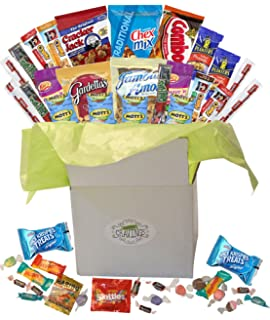 Amazon fun snacks and activity basket for boys makes a snack gift basket care package with sweet and salty snacks 26 count plus bonus candy negle Image collections