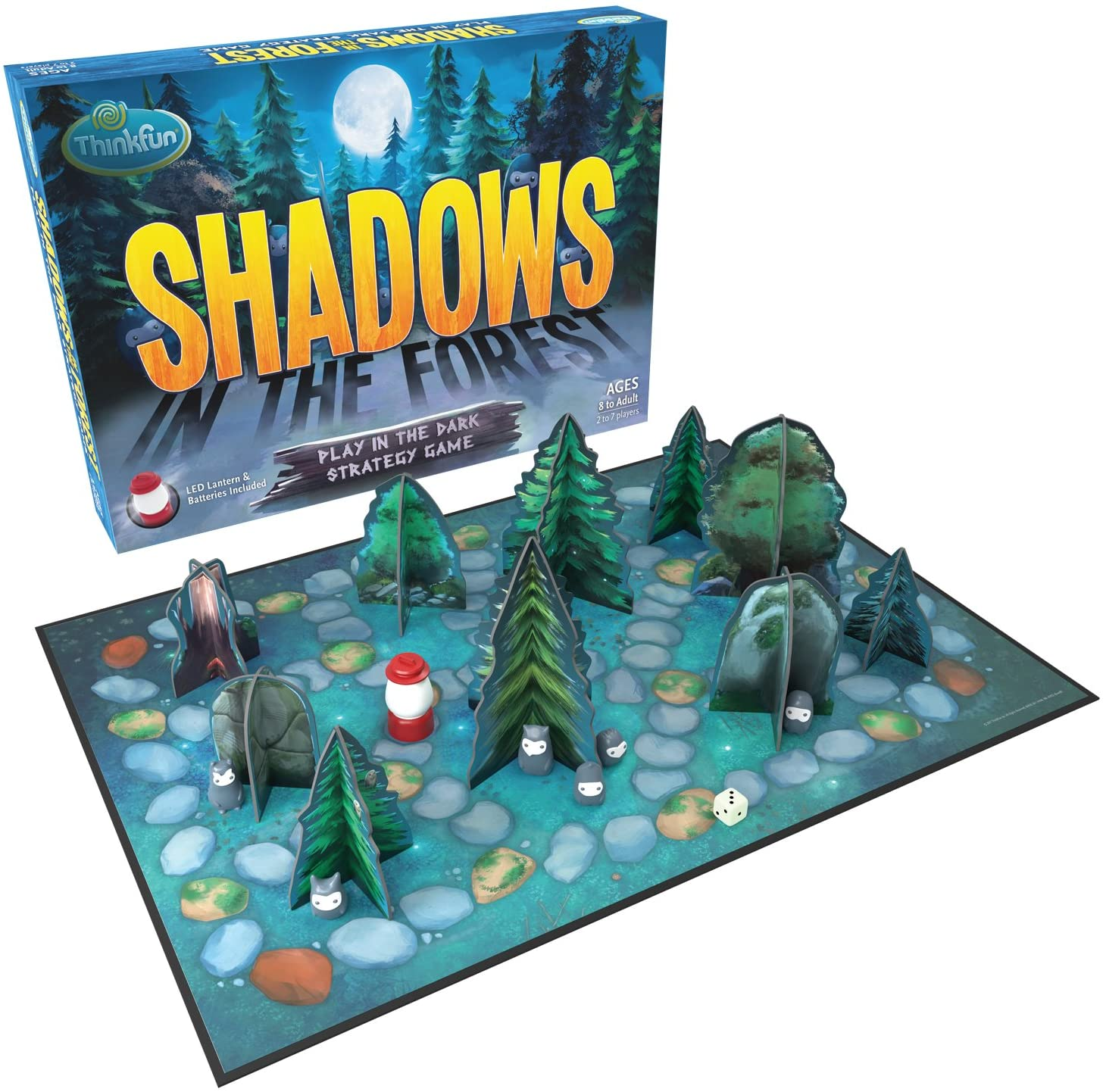ThinkFun Shadows in the Forest Play in the Dark Board Game for Kids and Families Age 8 and Up - Fun and Easy to Learn with Innovative and Unique Gameplay
