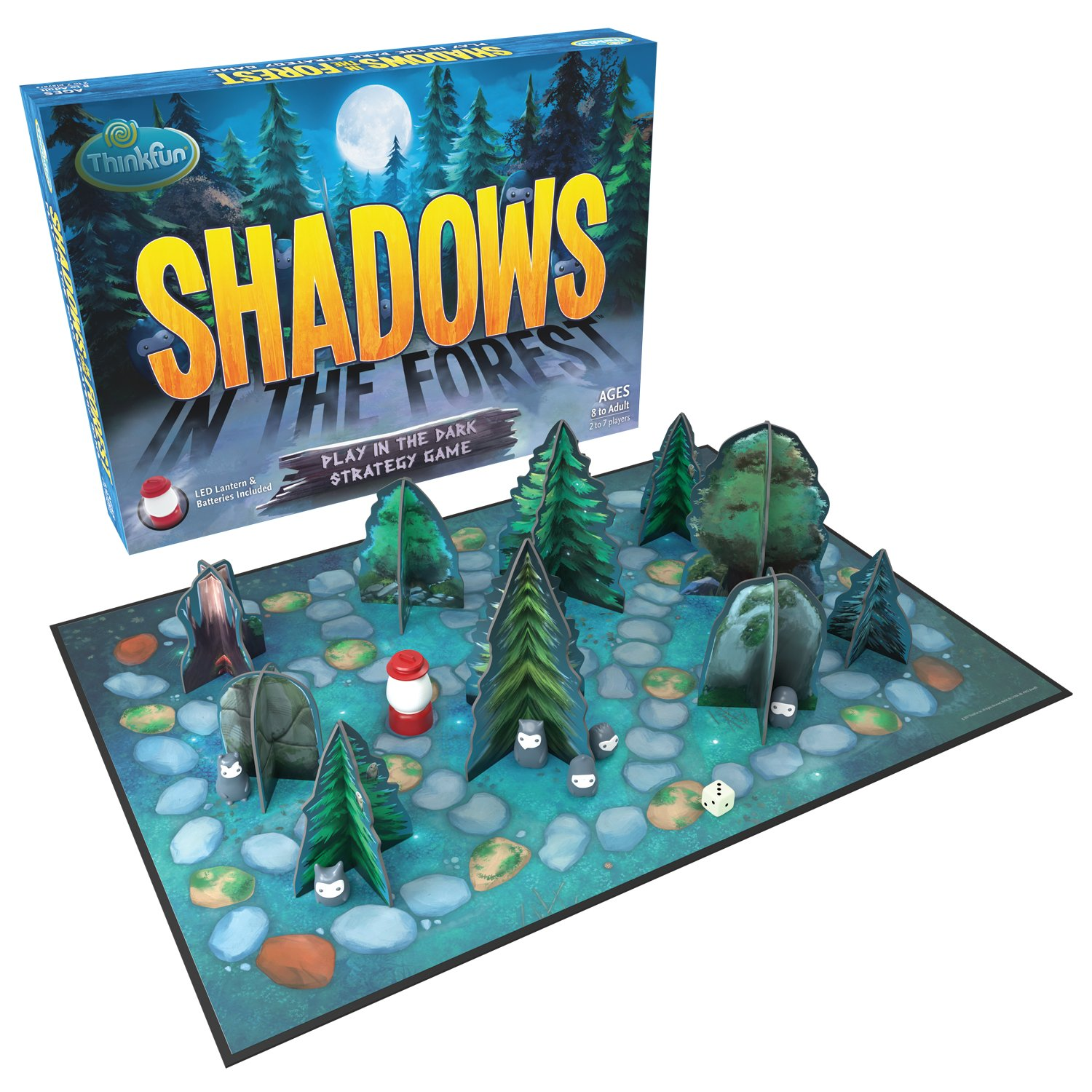 ThinkFun Shadows in the Forest Play in the Dark Board Game for Kids