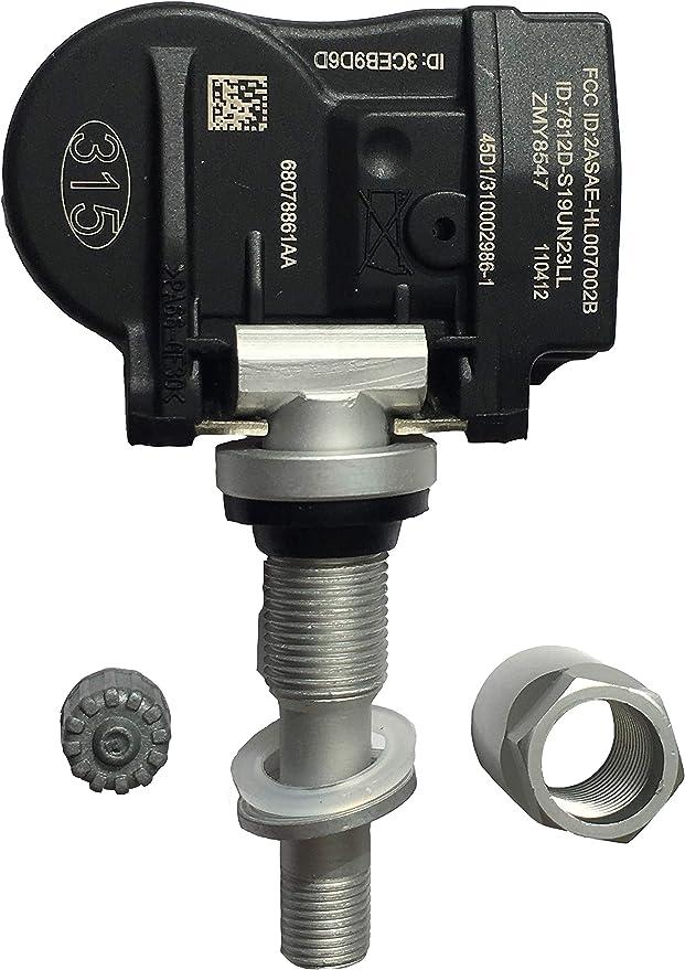 GoSens 433Mhz TPMS Sensor Tire Pressure Monitoring System Sensor GM Sensor for Chrysler Dodge OE Replacement x 4 sensors Aluminum stem Valve