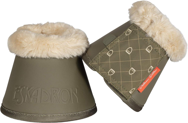 Eskadron Platinum Sprungglocken Faux Fur in Martini-Olive
