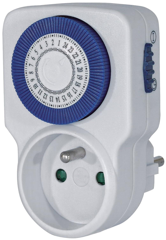 programmateur m/écanique pour l/'int/érieur Quantit/é : 1 Brennenstuhl Primera-Line Minuterie m/écanique MT 20 avec 96 cycles programmables par jour gris