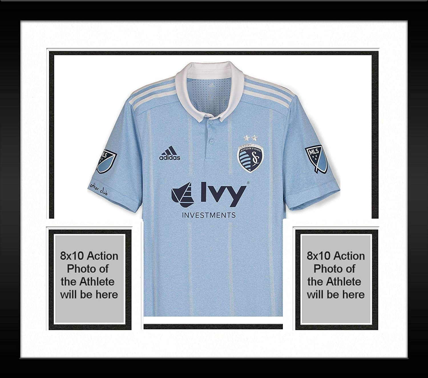 d2f5153a9da Framed Roger Espinoza Sporting Kansas City Autographed Match-Used Blue #17  Jersey from the 2018 MLS Season - Fanatics Authentic Certified at Amazon's  Sports ...