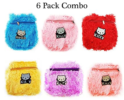 Buy Baal Set of 6 Pcs Small Bags for Kids Best Return Gift Item for Birthday Party for Girls, Multi Colored, Pack of 1 Online at Low Prices in India ...