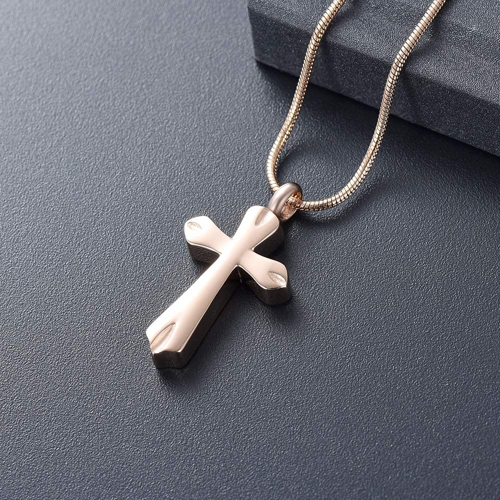 Cross Urn Pendant Memorial Necklace Religious Keepsake Ash Holder Accessories constantlife Cremation Jewelry for Ashes