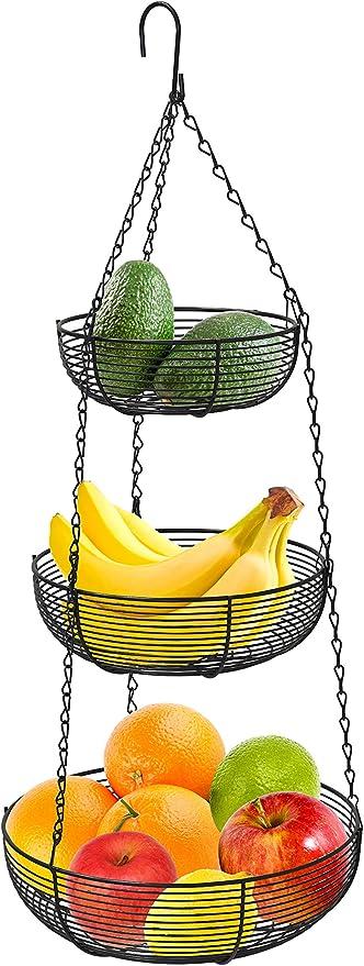 3-Tier Hanging Basket Fruit Organizer