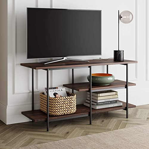 Nathan James Adler 3-Tier Modern TV Stand or Media Console Entertainment Center