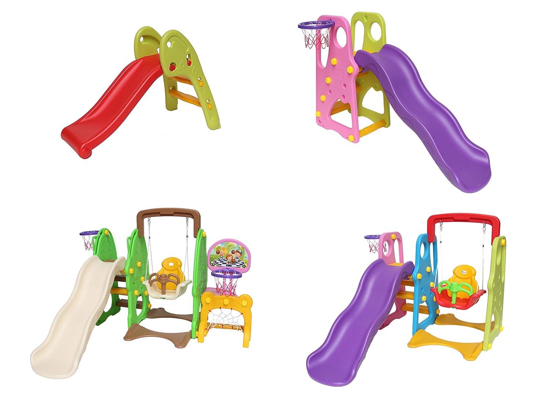Clarmaro Kids Adventure 5in1 Kinder Spielplatz Rutsche Mit 140 Cm