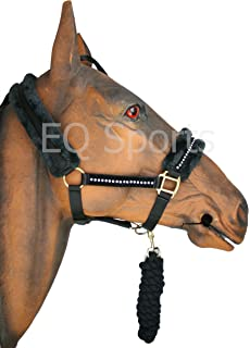 Full, Hot Pink Equipride QHP HEACOLLAR MATCHING LEAD ROPE SET WITH FAUX FUR IN 4 AMAZING COLOURS