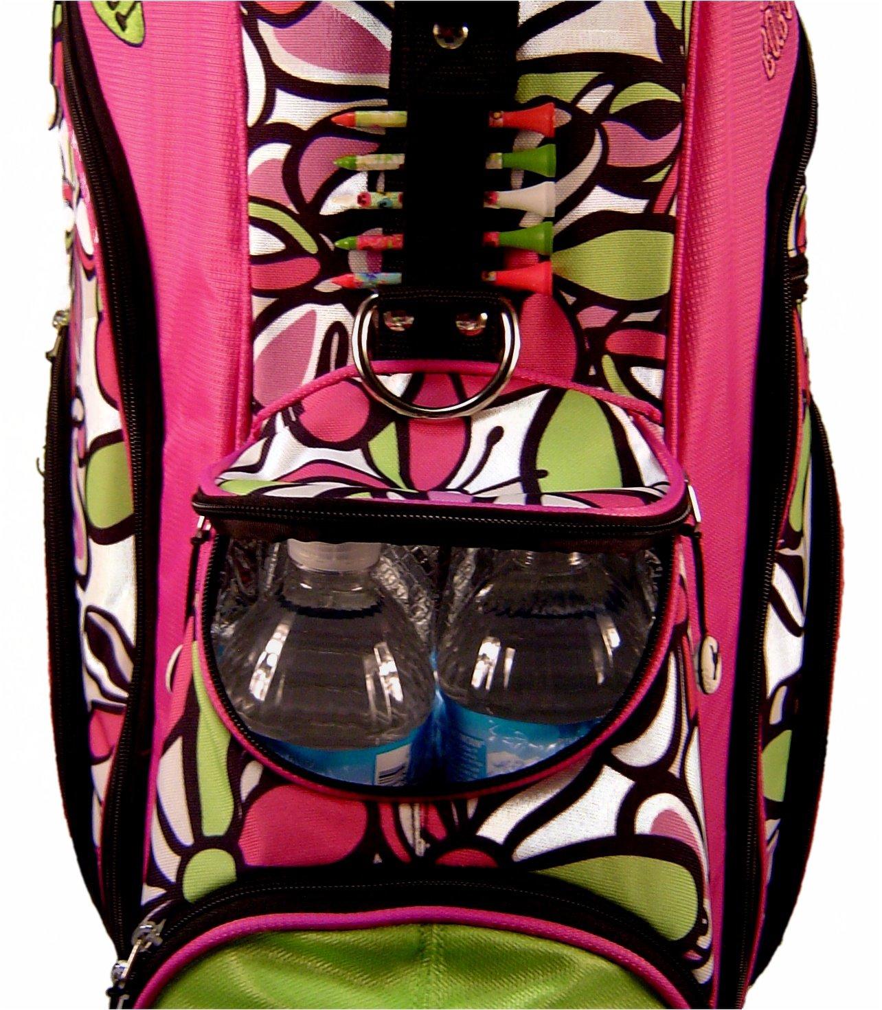 Birdie Babe Women Golf Bag Bahama Mama Pink Flowered Ladies Hybrid Golf Bag