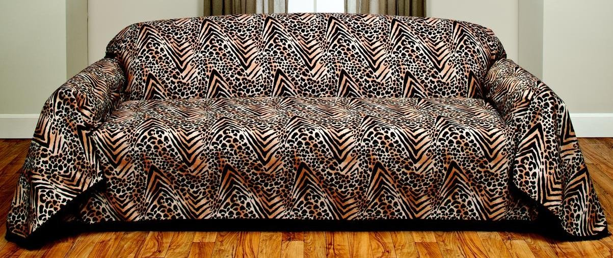 Safari Animal Leopard Skin Furniture Throw Cover, Sofa Size by Madison (Image #1)
