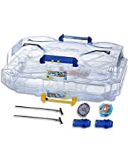 Beyblade Burst - Evolution - SwitchStrike Dual Level Stadium - inc Right Spin Battle Tops - Valtryek, Noctemis and Launchers - Kids Toys - Ages 8+