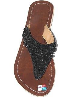 Damen Flip Sandale Fairy Shell Zehentrenner Zehenpantolette yI1RueYsg