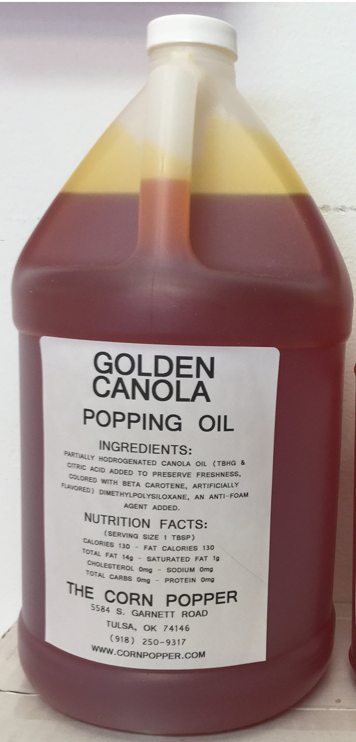 Golden Canola Popcorn Popping Oil, 2-gallon Case by The Corn Popper