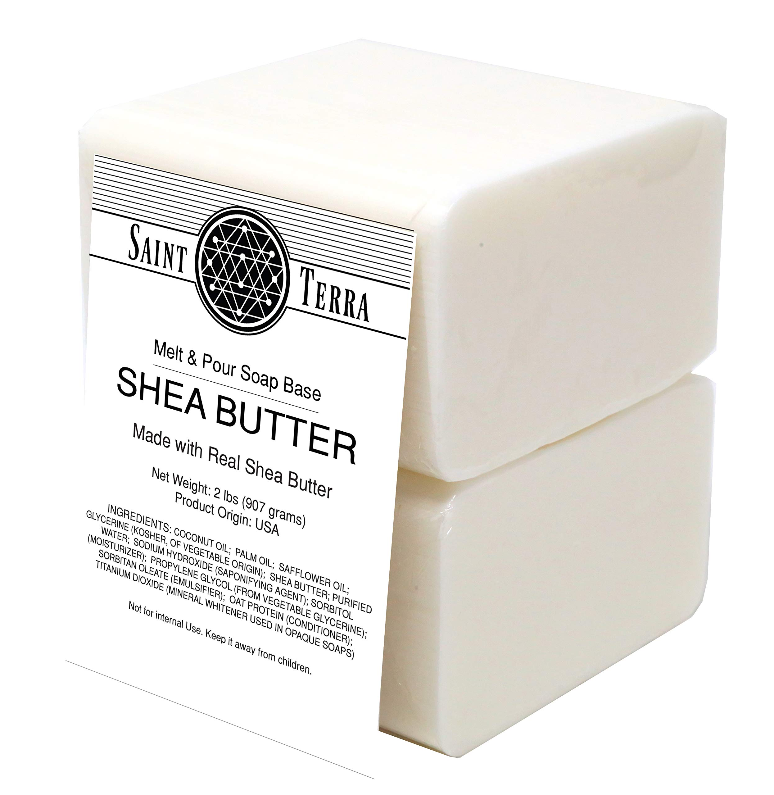 Saint Terra - Shea Butter Melt & Pour Soap Base, 2 Pounds