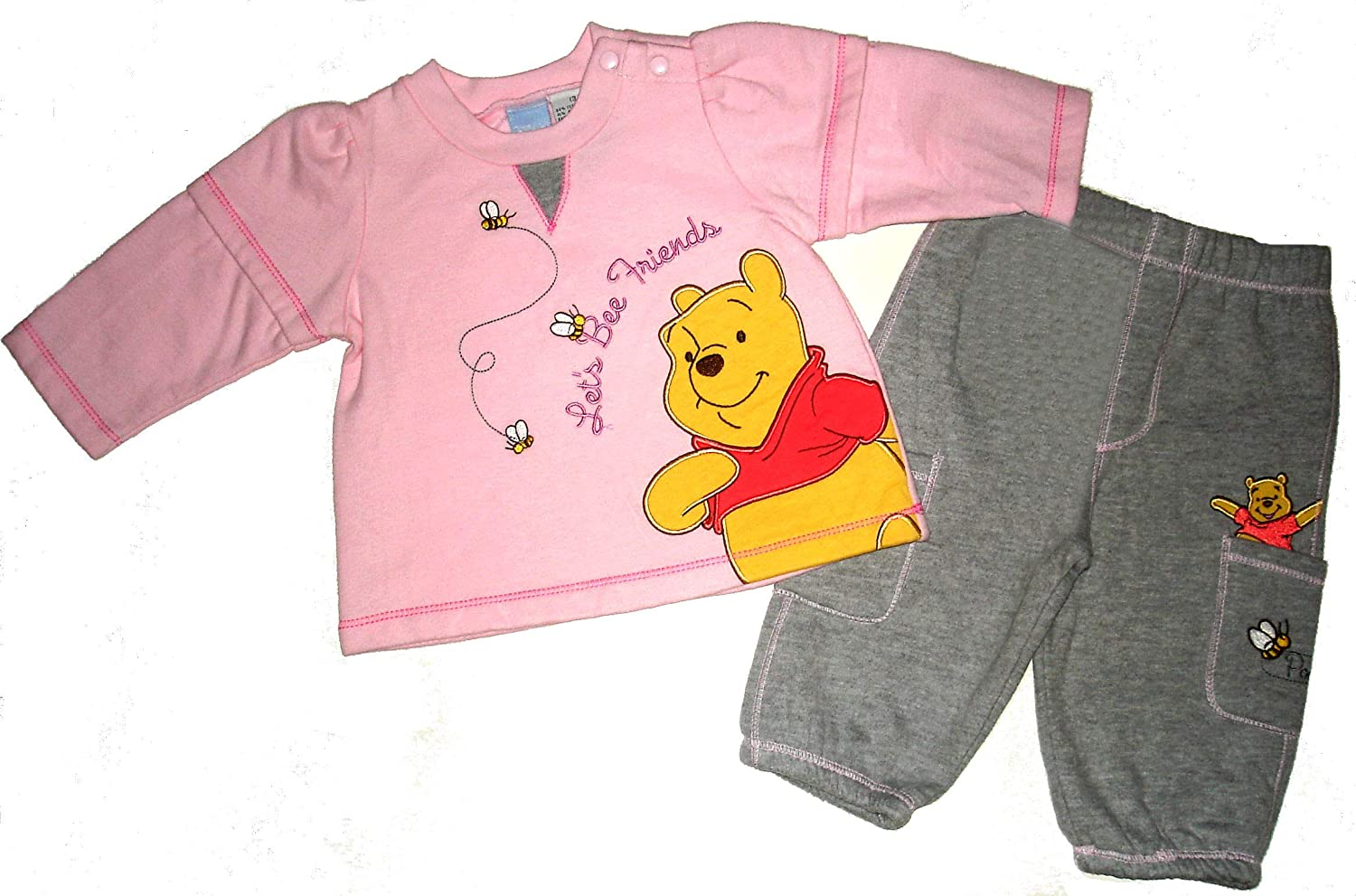 Disney Store Baby Winnie the Pooh Christmas Footed Pajamas Size 3-6 months