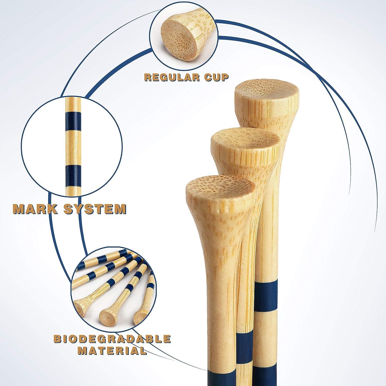 "Champkey SDB Bamboo Golf Tees Pack of 120 (2-3/4"" & 3-1/4"" Available)"