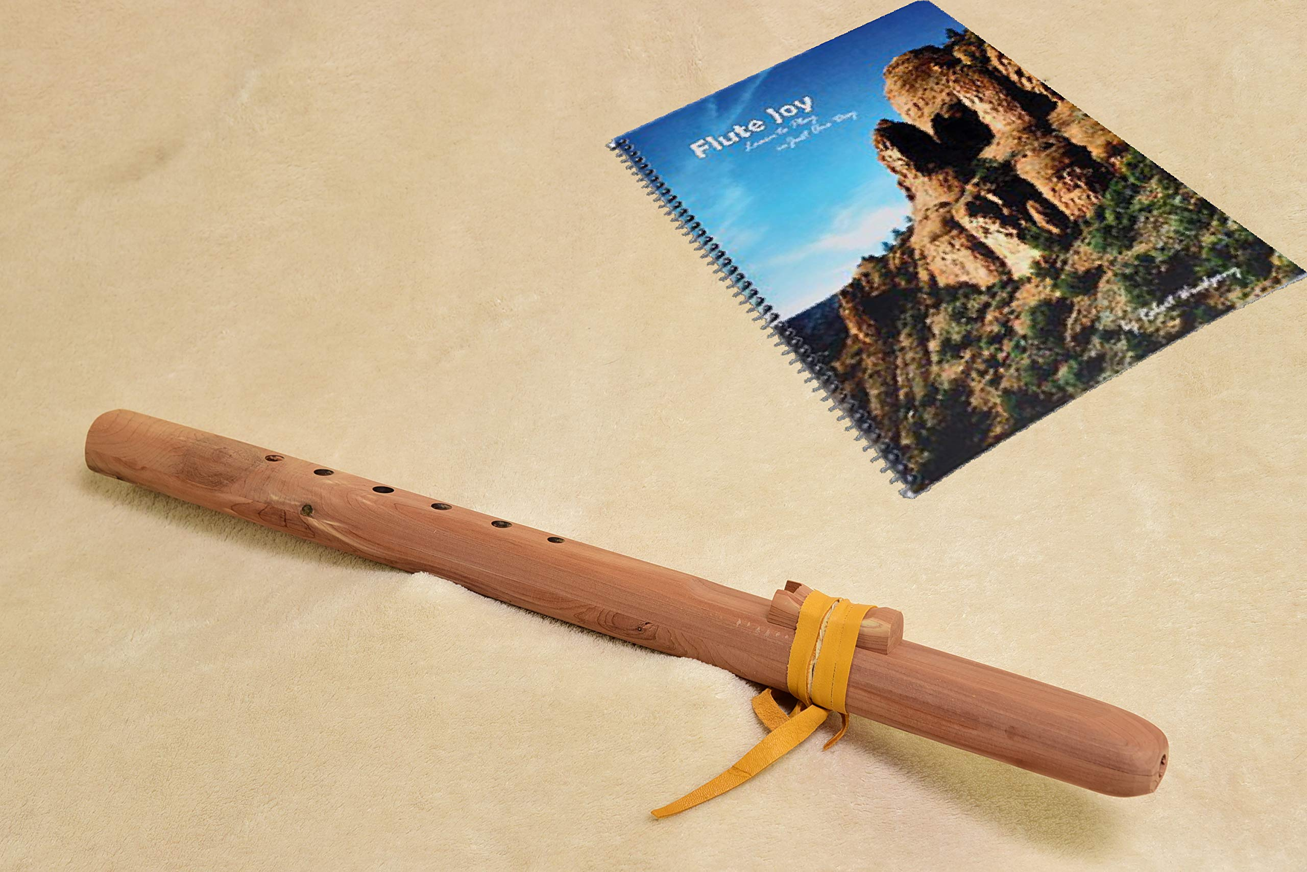 Windpony Unfinished Cedar Flute in the key of G with Instruction Book by Windpony