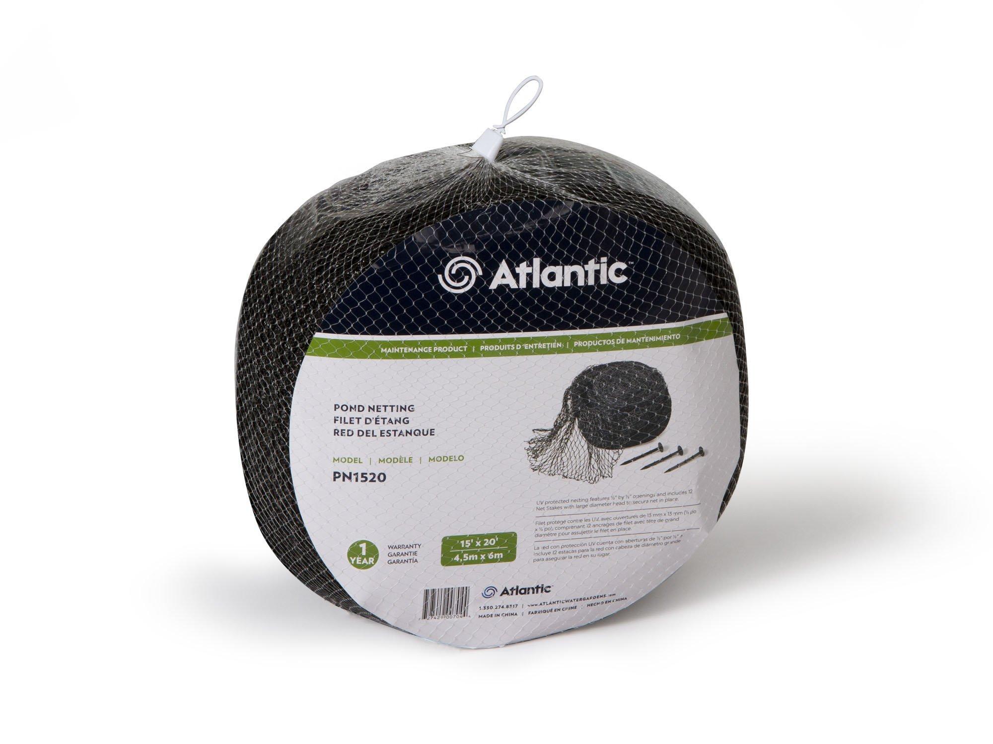 Atlantic Water Gardens PN1520 Heavy-Duty Pond Net Stakes, 15-Feet by 20-Feet by Atlantic Water Gardens